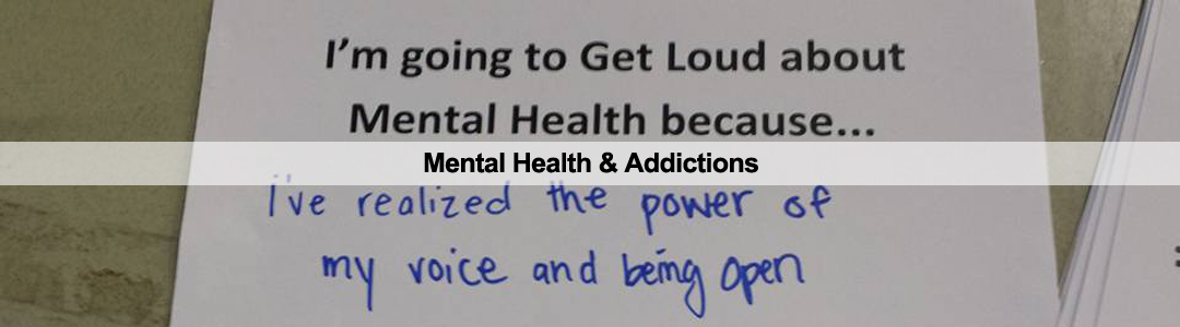 Mental Health & Addictions Program Header