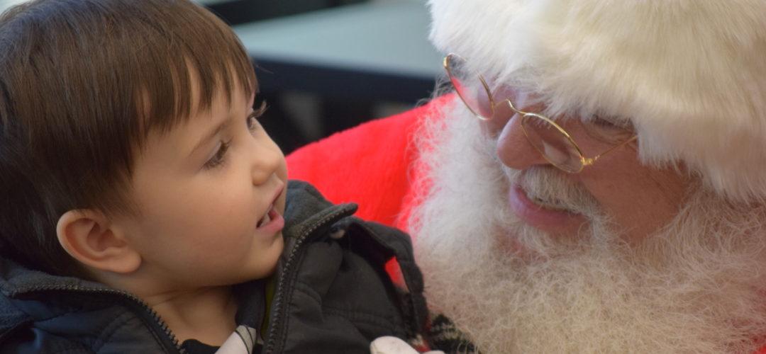 Young Boy with Santa