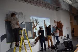 SWAC Mural Team working
