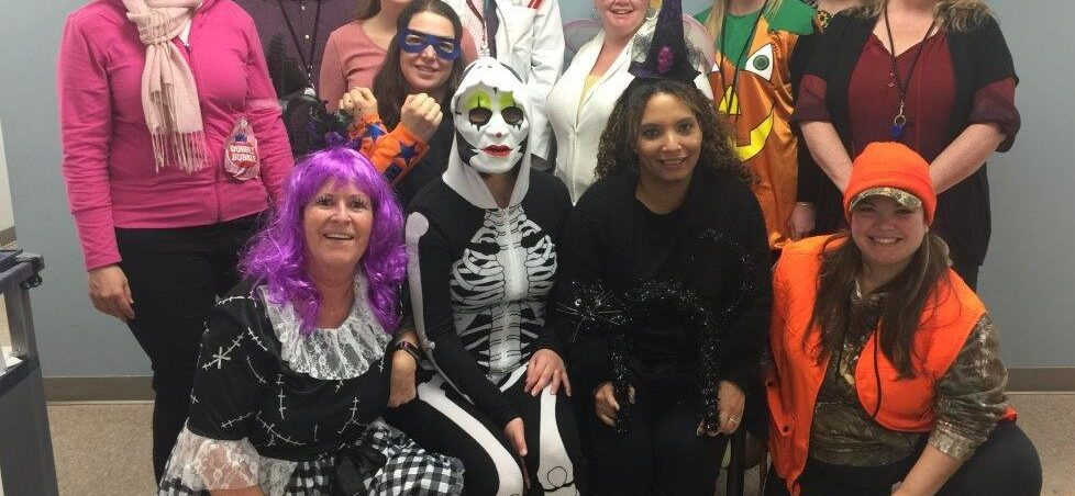 CHC Staff dressed up for Halloween.